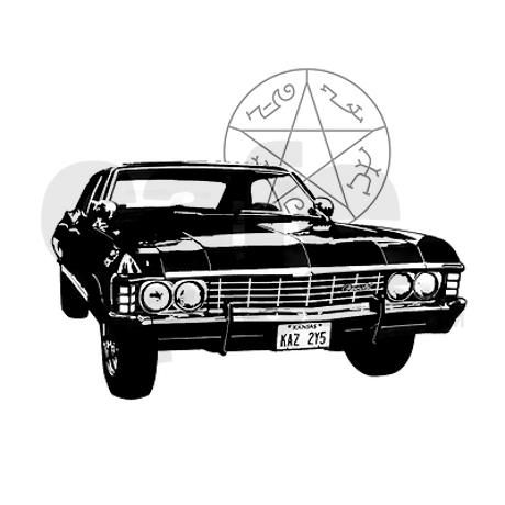 Impala with devils trap Yard Sign on CafePress.com