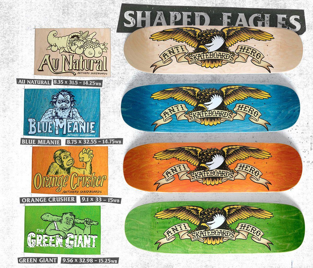 e26460ac1d Anti Hero Shaped Eagles!!! | One Eight | Anti hero skateboards, Hero ...