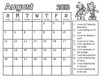 Monthly Behavior Calendars NOW EDITABLE! {Updated Yearly