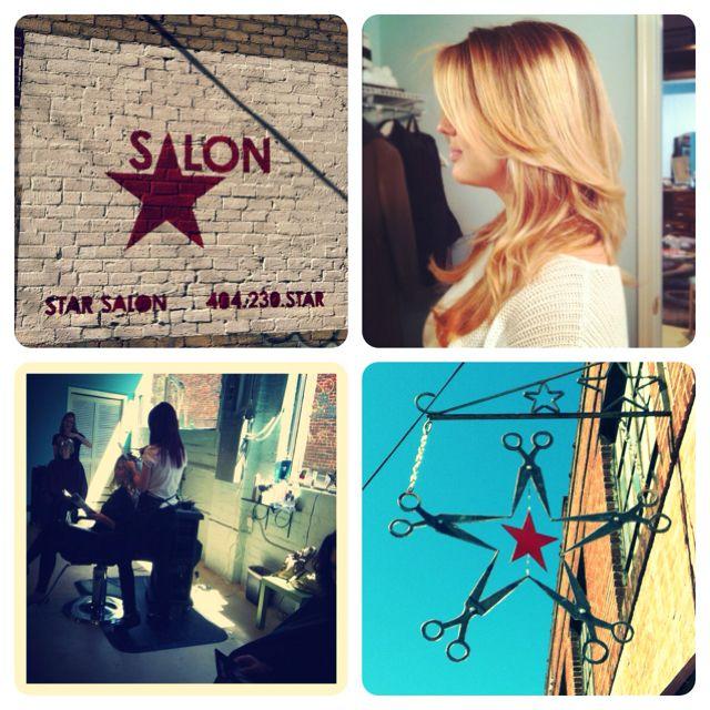 My job! Hairstylist at Star Salon in Inman park,