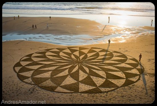 sand paintings by Andres Amador