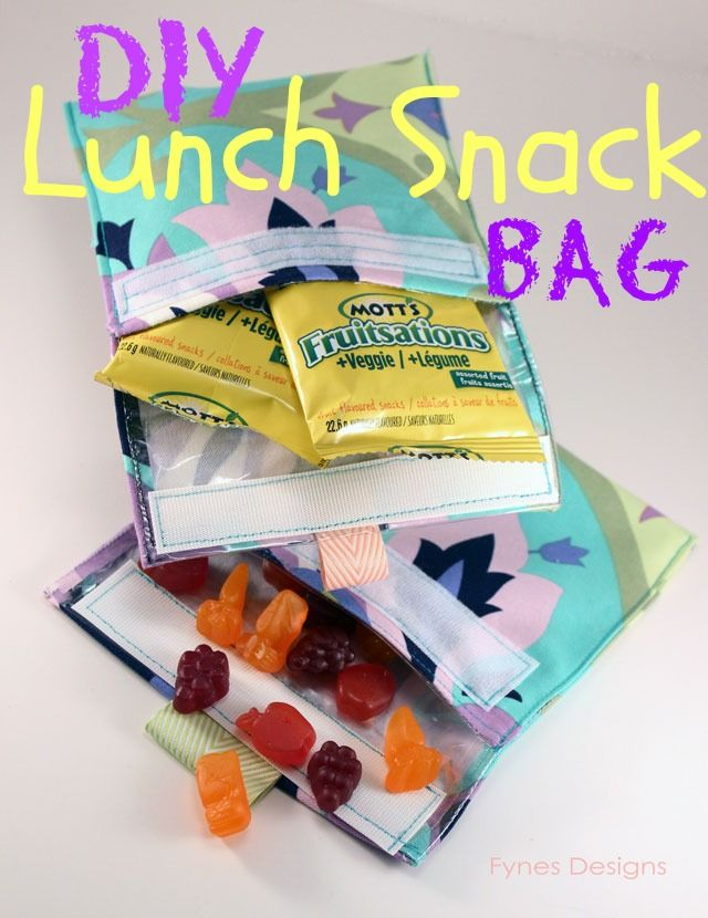 Make Me Reusable Snack Bag Sew A Needle Pulling Thread