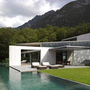 Tadao Ando's Casa Monterrey nestles  against a hillside in Mexico
