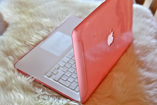 Most popular tags for this image include: apple, pink, laptop, mac and macbook
