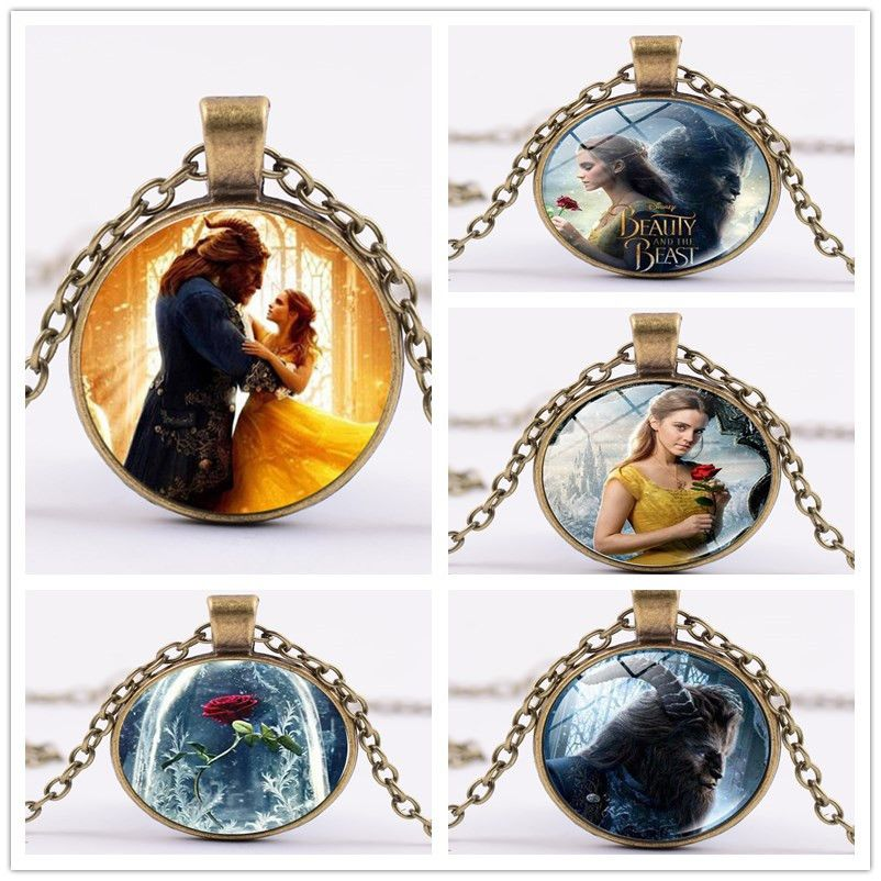 2017 wholesale glass picture pendant beauty and the beast necklace 2017 wholesale glass picture pendant beauty and the beast necklace rose glass pendant art pendant for mozeypictures Image collections