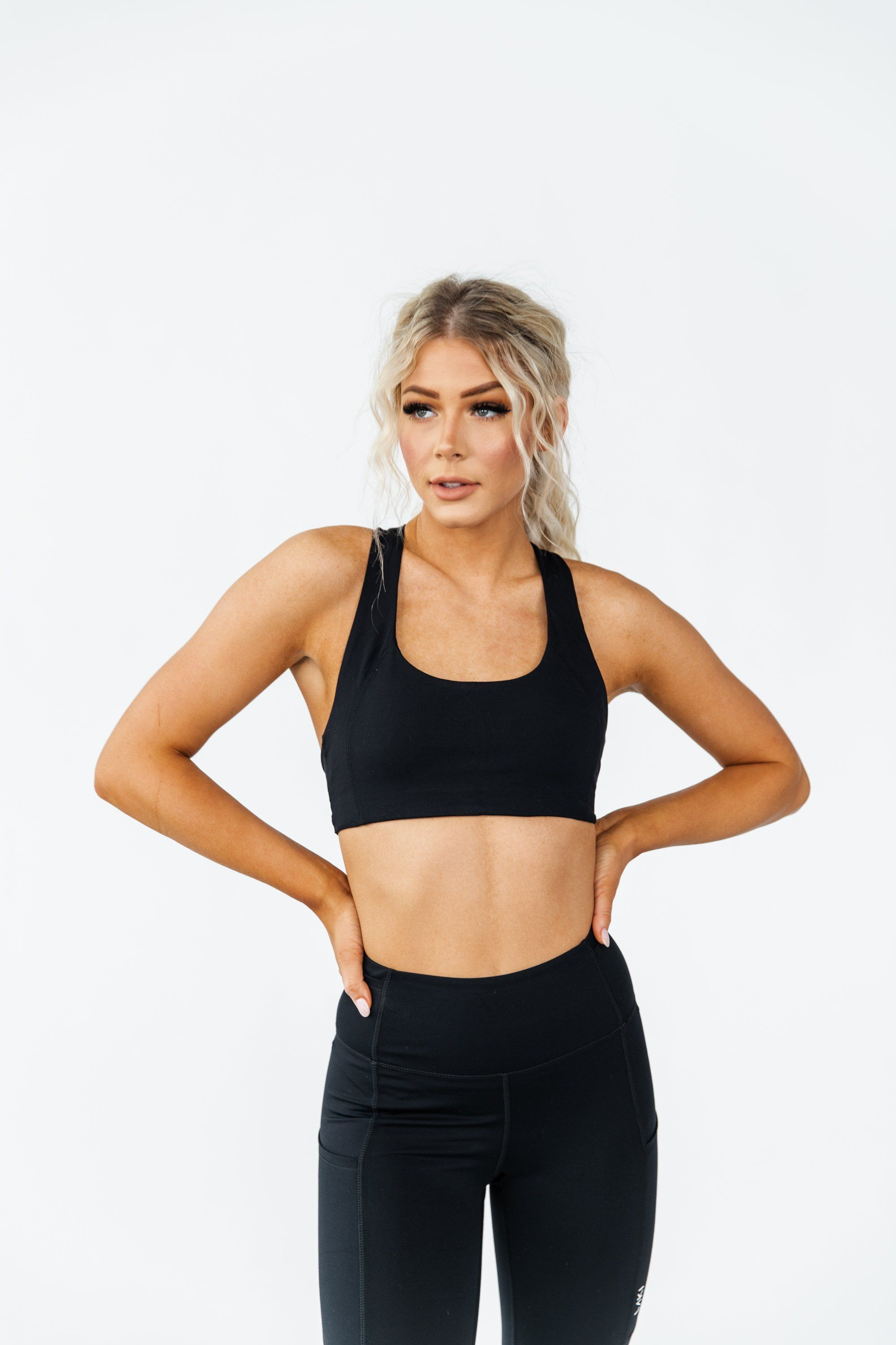 FREE RETURNS & EASY EXCHANGES PRODUCT DETAILS - Low medium support- Removable padding- Sweat-wicking fabric- Strappy back design- Fabric: Nylon & Spandex- Bra