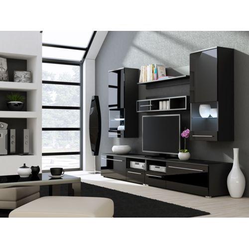 Soldes chloe decoration meuble tv design park blanc et noir pas cher achat