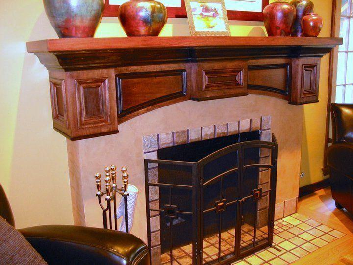 "Custom Made Fireplace Mantel Wall Shelf ""California"""