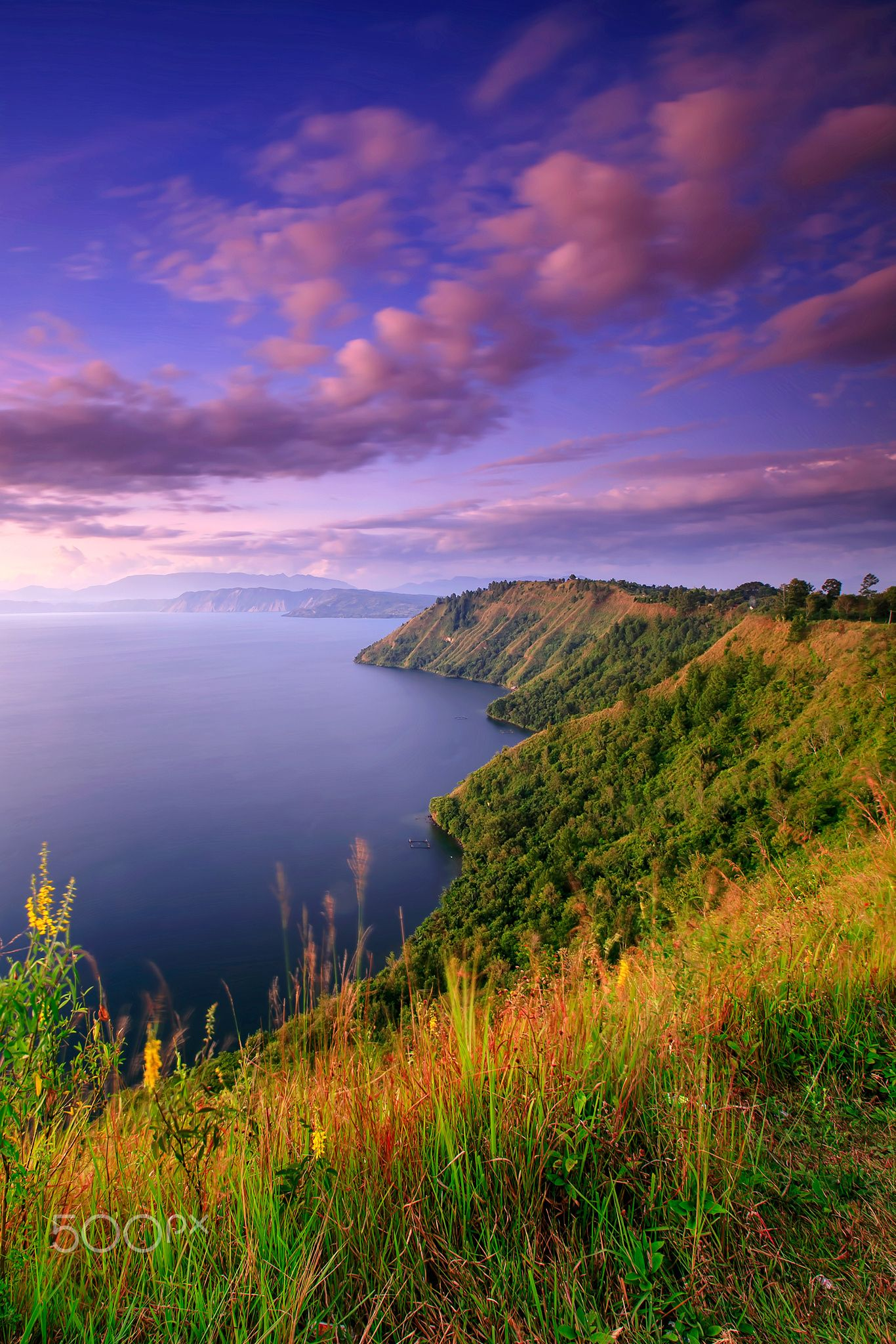 sunset in Lake Toba by Franshendrik Tambunan Photo