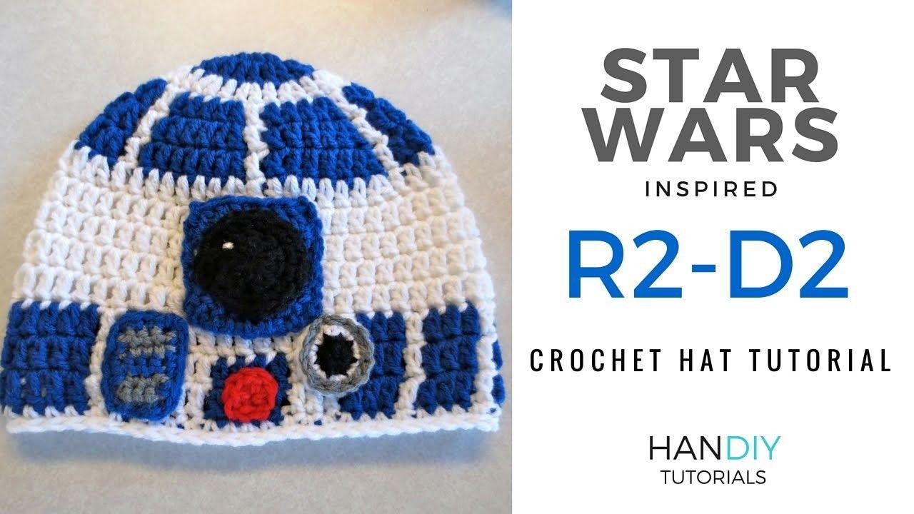 R2-D2 Droid Crochet Hat Tutorial inspired by Star Wars | Crochet ...