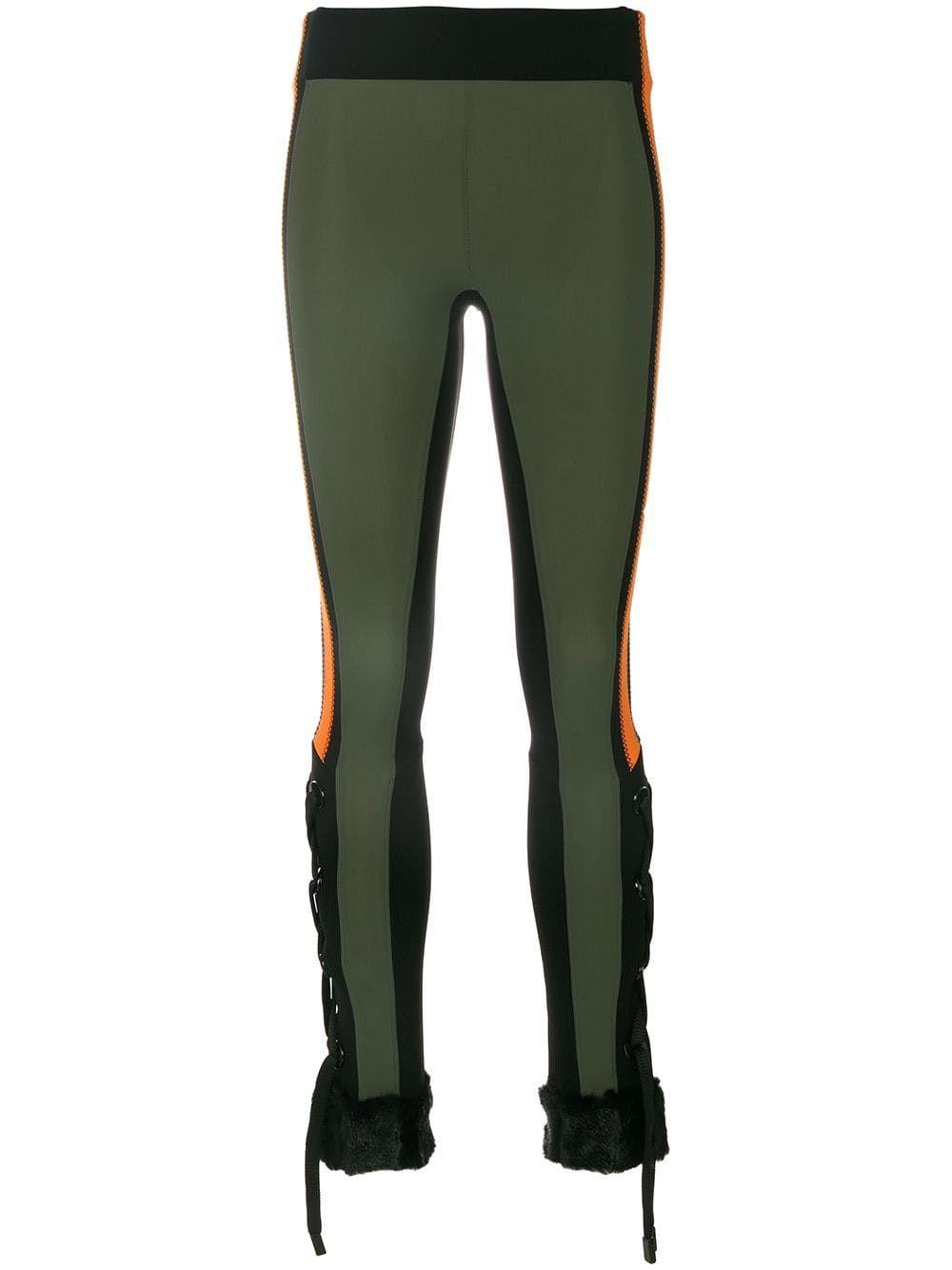 2143ec6dfcffdc No Ka' Oi faux fur cuff colourblock leggings - Multicolour in 2019 ...