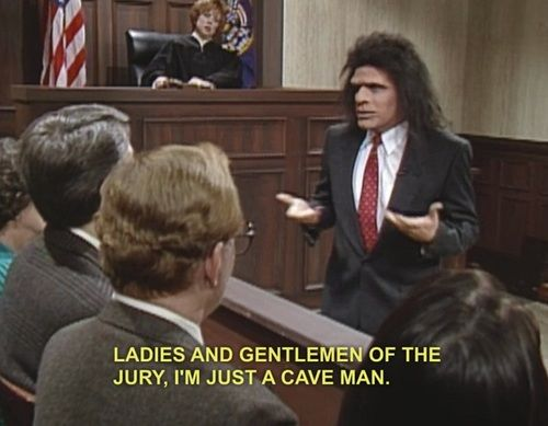 Image result for phil hartman caveman lawyer