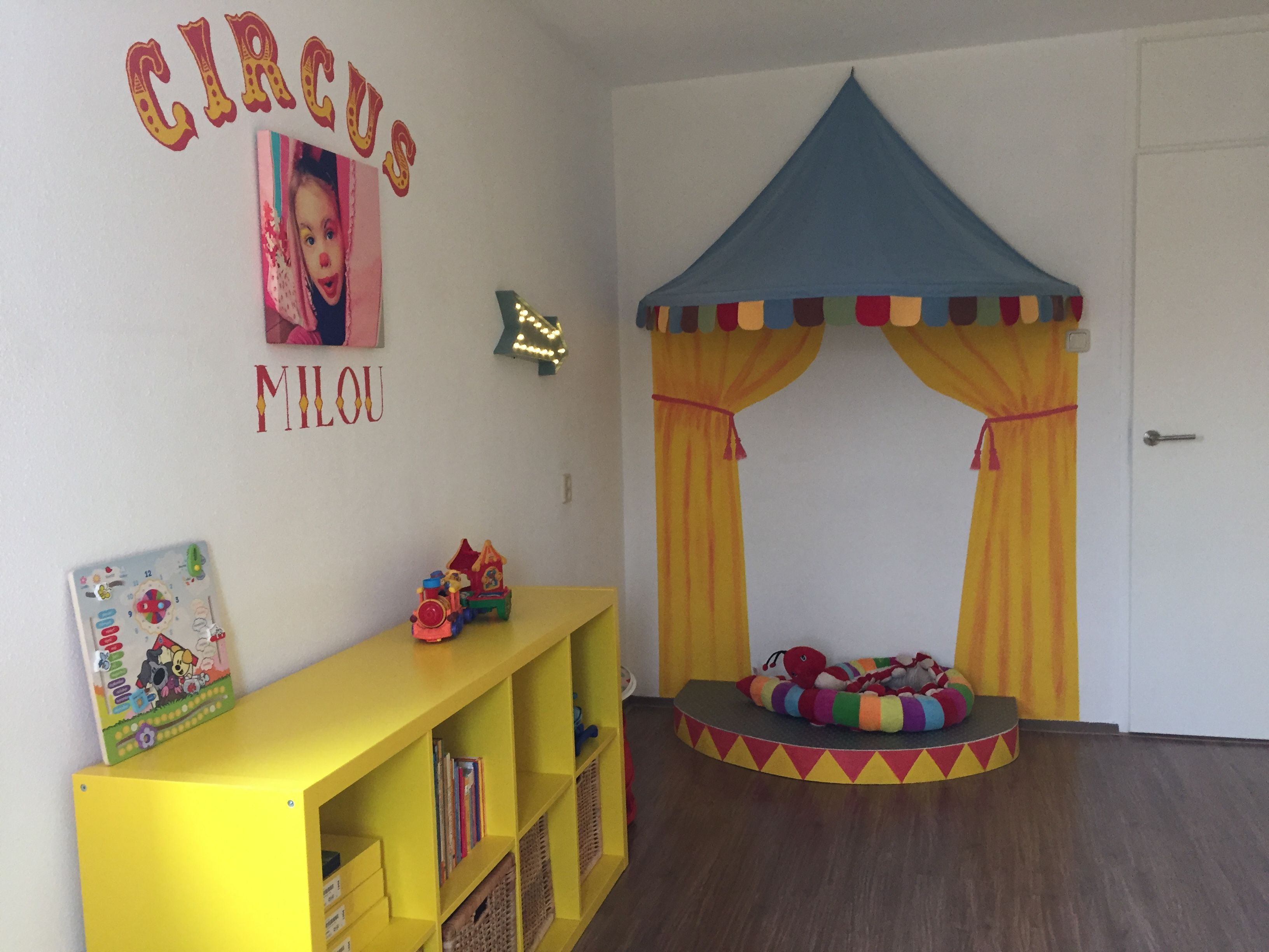 Kids room circus theme. With actual stage. Interior inspiration ...