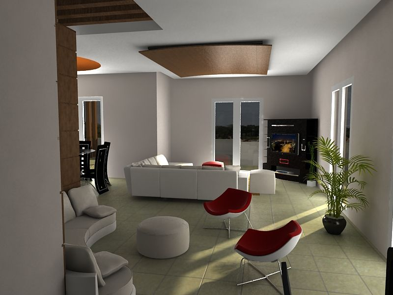 3d interior renderings autocad rendering design interior for Decor 3d model