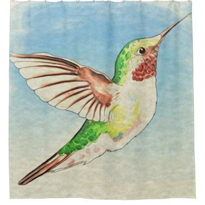 Shop Pretty Hummingbird Shower Curtain Created By EveyArtStore Personalize It With Photos Text Or Purchase As Is