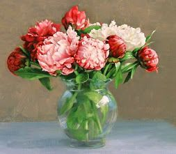 pinturas de flores en cuadros decorativos