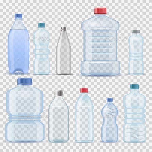 Transparent Water Plastic Clean Bottle 3d Bottle Drawing Water Bottle Drawing Adobe Illustrator Graphic Design