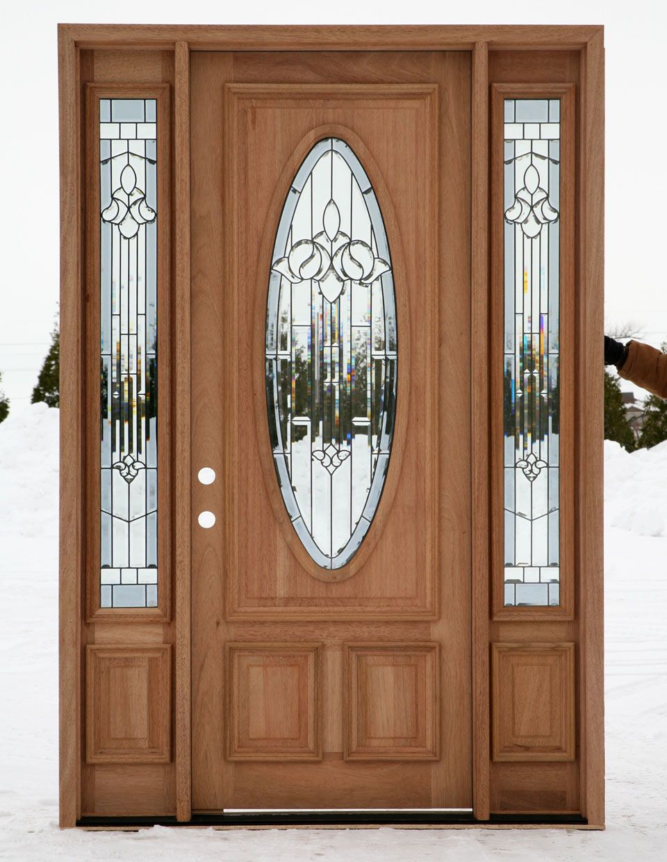 Front entrance doors exterior doors entry doors wood for Outside doors with glass