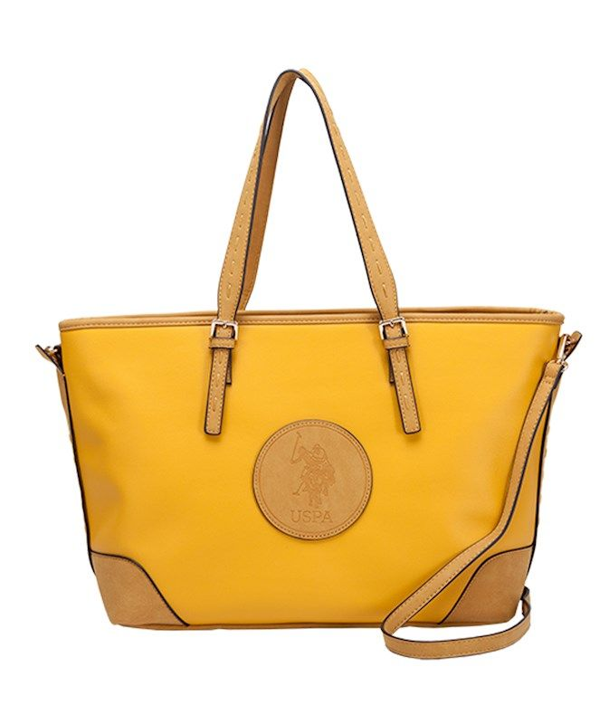 b33277c8c1b4 Us polo assn. newburgh pu tote bag in yellow