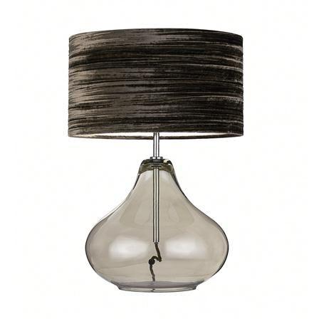 Heathfield & Co Isobel Table Lamp, Smoke