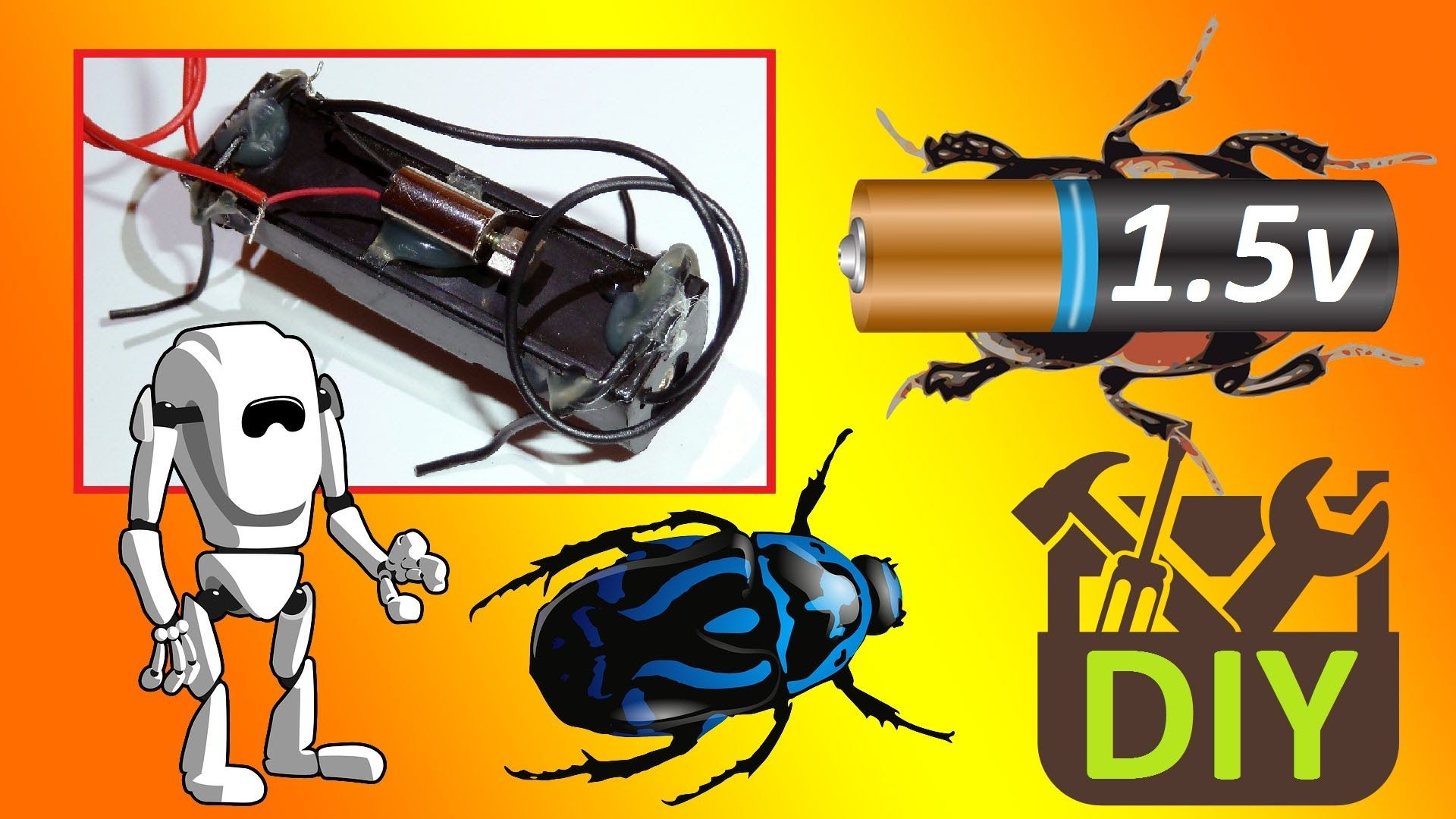 How To Make A Simple Walking Insect Robot Beetle Bug In