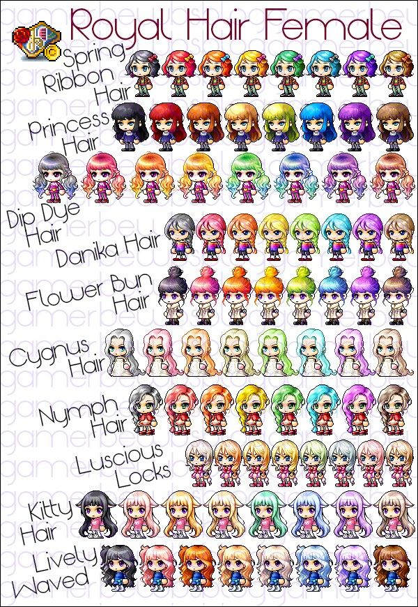 Pin By Whyucrine On Maplestory Hairstyles Dipped Hair Flowers In Hair Princess Hairstyles