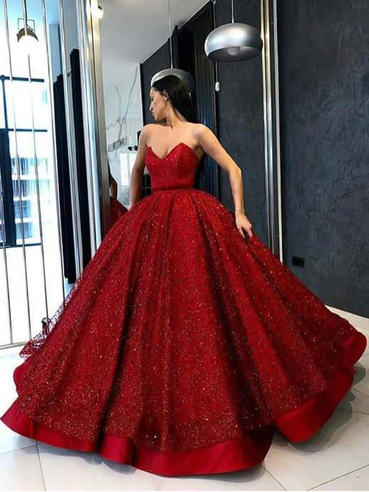 Ball Gown Prom Dresses Sweetheart Red Lace Long Luxury Sparkly Prom Dress Jkl1311 Sparkly Prom Dresses Ball Gowns Red Prom Dress Sparkly