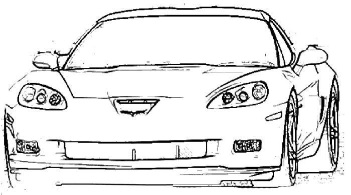 corvette z06 coloring page