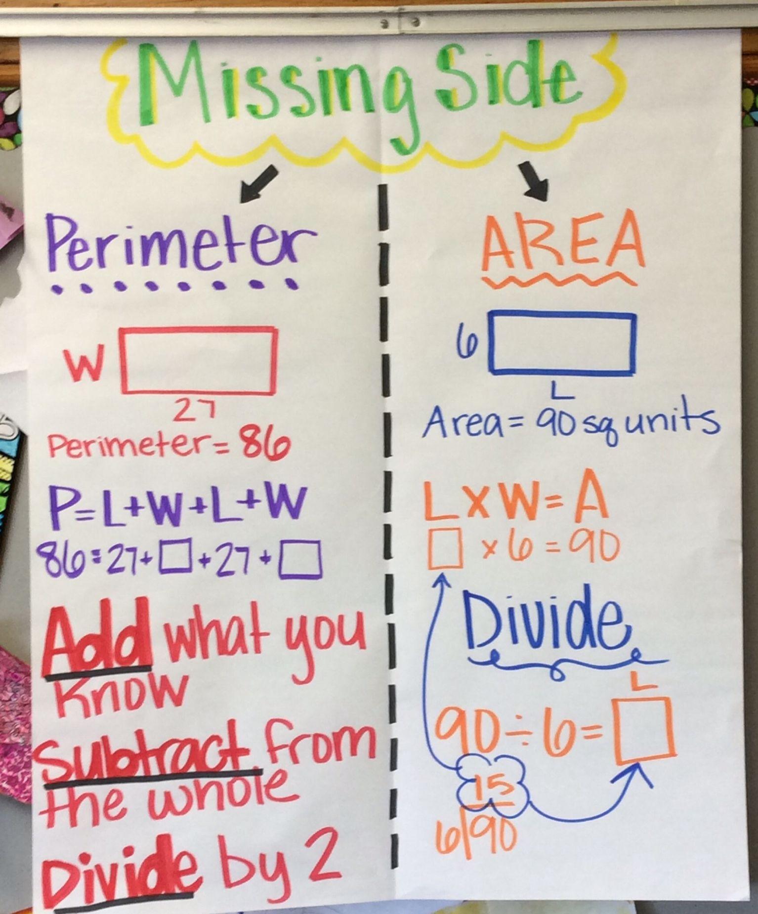Perimeter Missing Side Worksheet   Printable Worksheets and Activities for  Teachers [ 1850 x 1534 Pixel ]