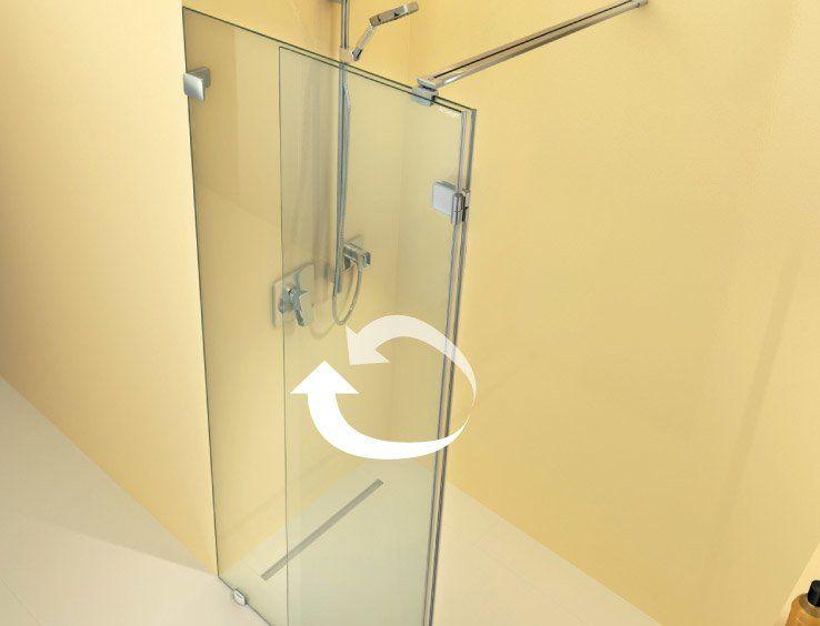 beweglicher Glasteil der ARTWEGER 360 WALK IN VARIO