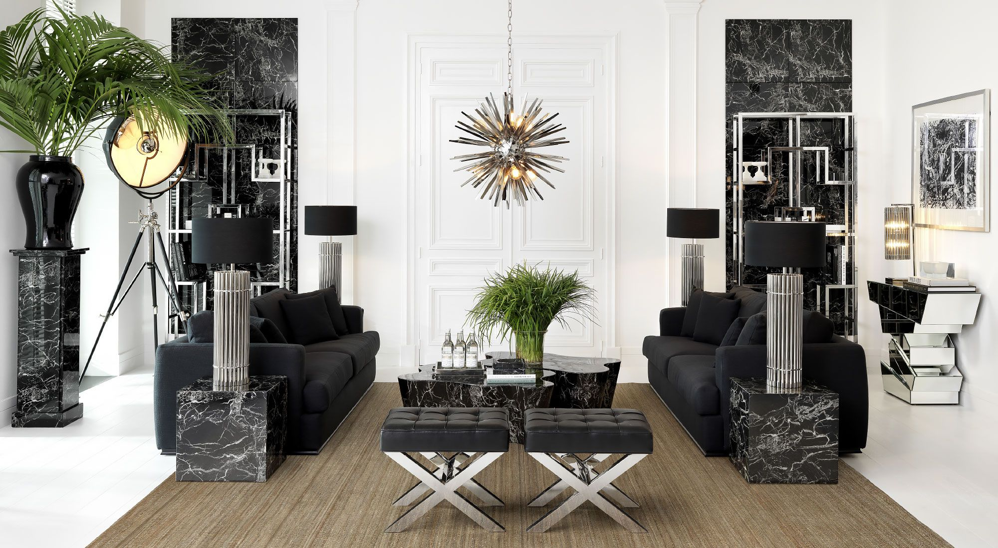 Lighting Accessories, Living Room Furniture, Living Rooms, Lighting Design, Black  White, Luxury