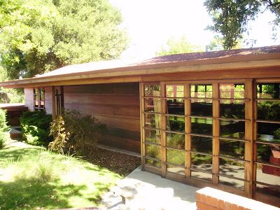Life at 55 mph: The Hanna House by Frank Lloyd Wright in Stanford, California (click here for more info)