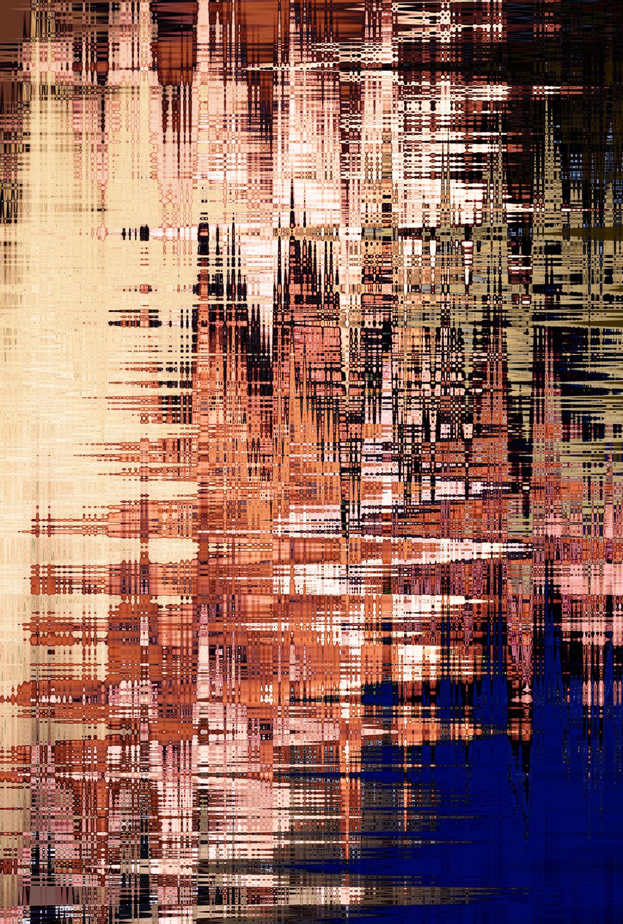 Print: Wave Print V · CEATHRAMH GORM