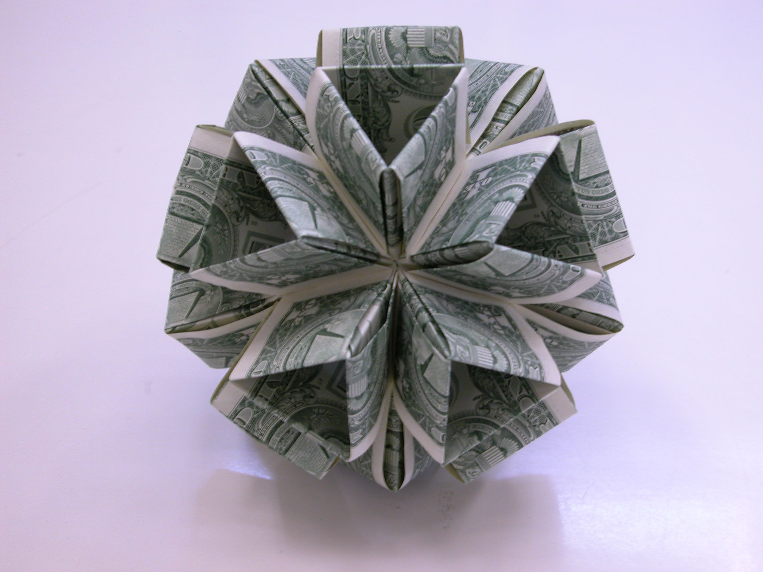 Dollar Money Origami Icosahedron | Money Dollar Origami ... - photo#19