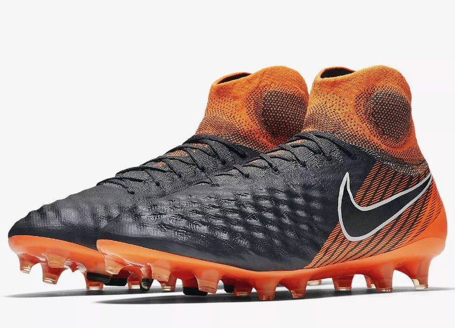 brand new 74b1f e87a4  football  soccer  futbol  nikefootball Nike Magista Obra II Elite Dynamic  Fit FG Fast AF- Dark Grey   Total Orange   White   Black