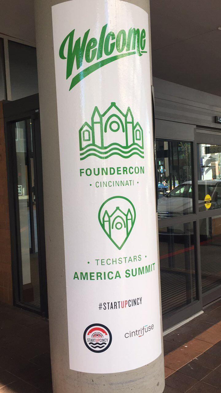 Here in Cincinnati for the techstars summit!! #startupcinncy