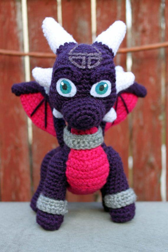 Crochet Pattern: Cynder the Dragon (from Spyro) Inspired Amigurumi ...