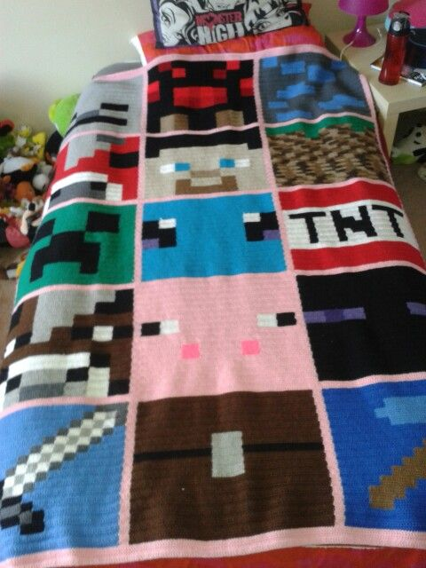 Girl Crochet Minecraft blanket | Minecraft | Pinterest | Manta ...
