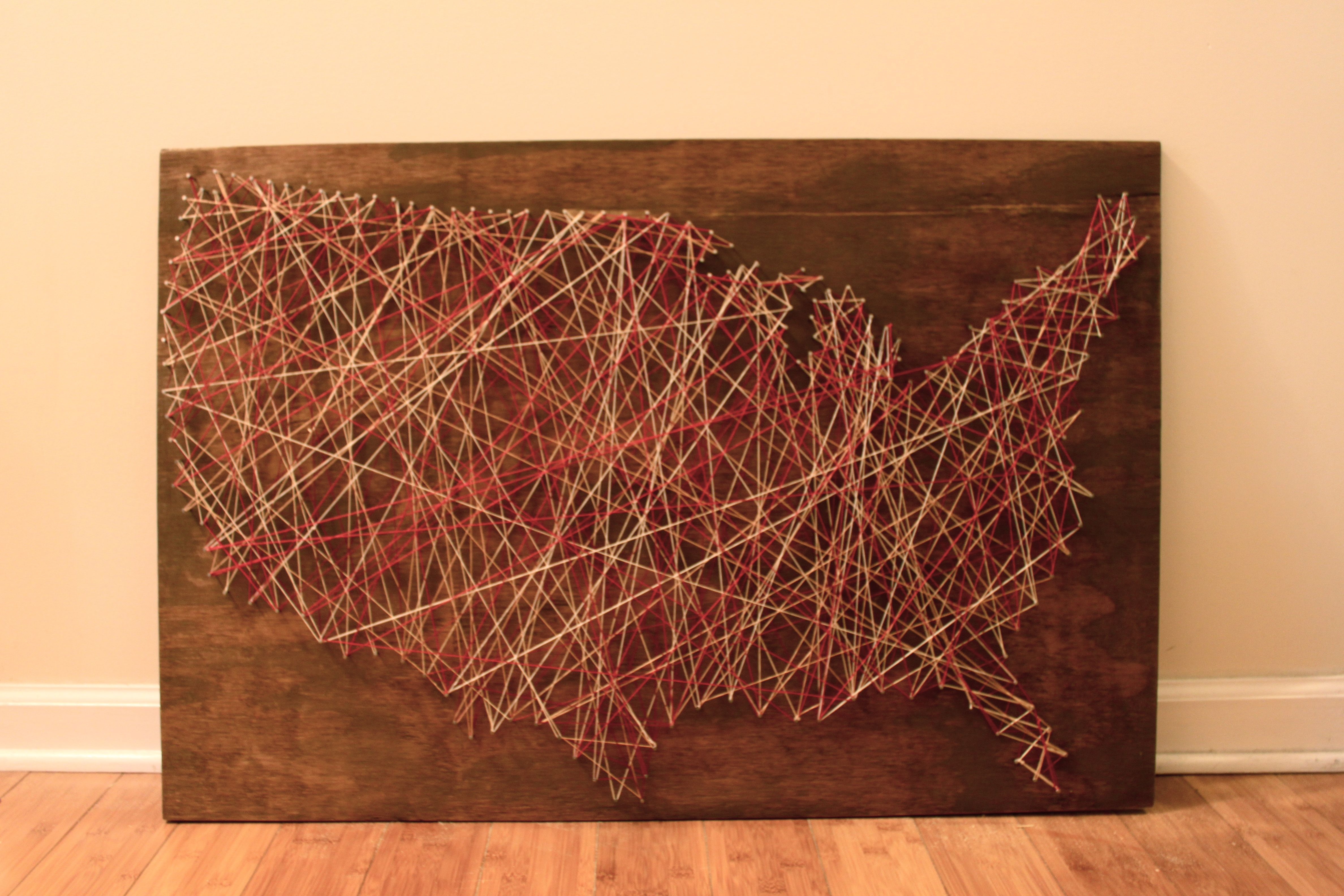 String Art Map Of The United States