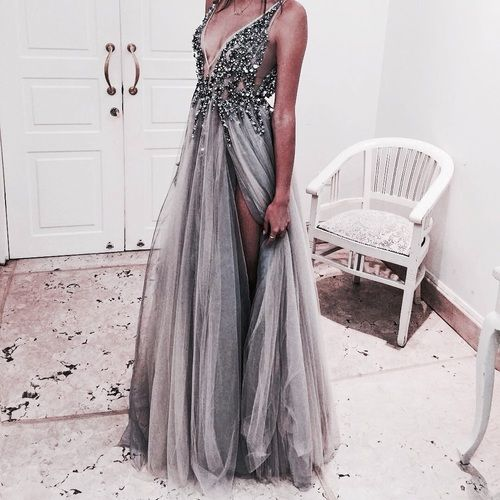 Silver Long Sleeve Prom Dresses Tumblr