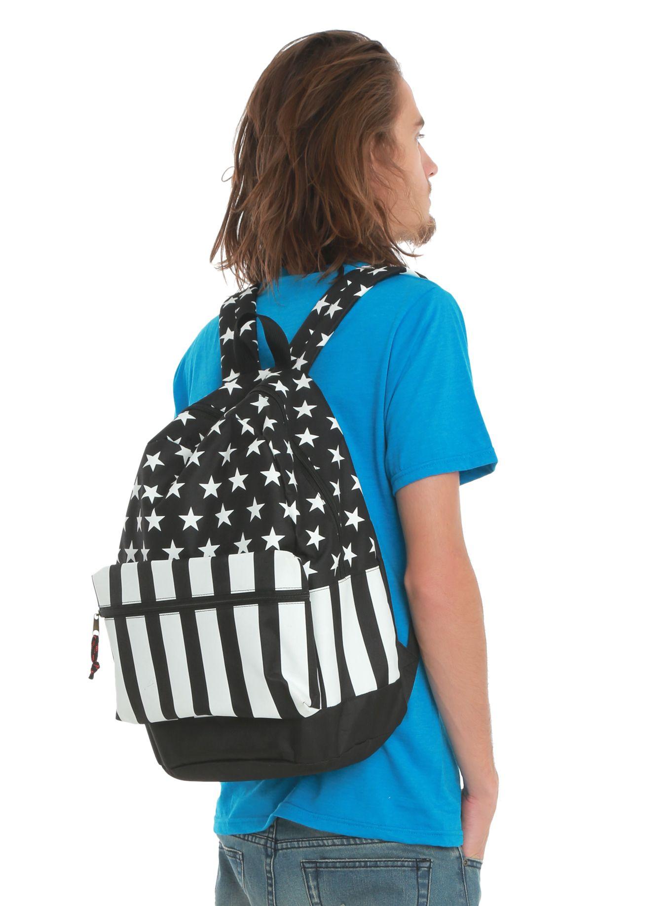 Black & White Americana Backpack | Hot Topic
