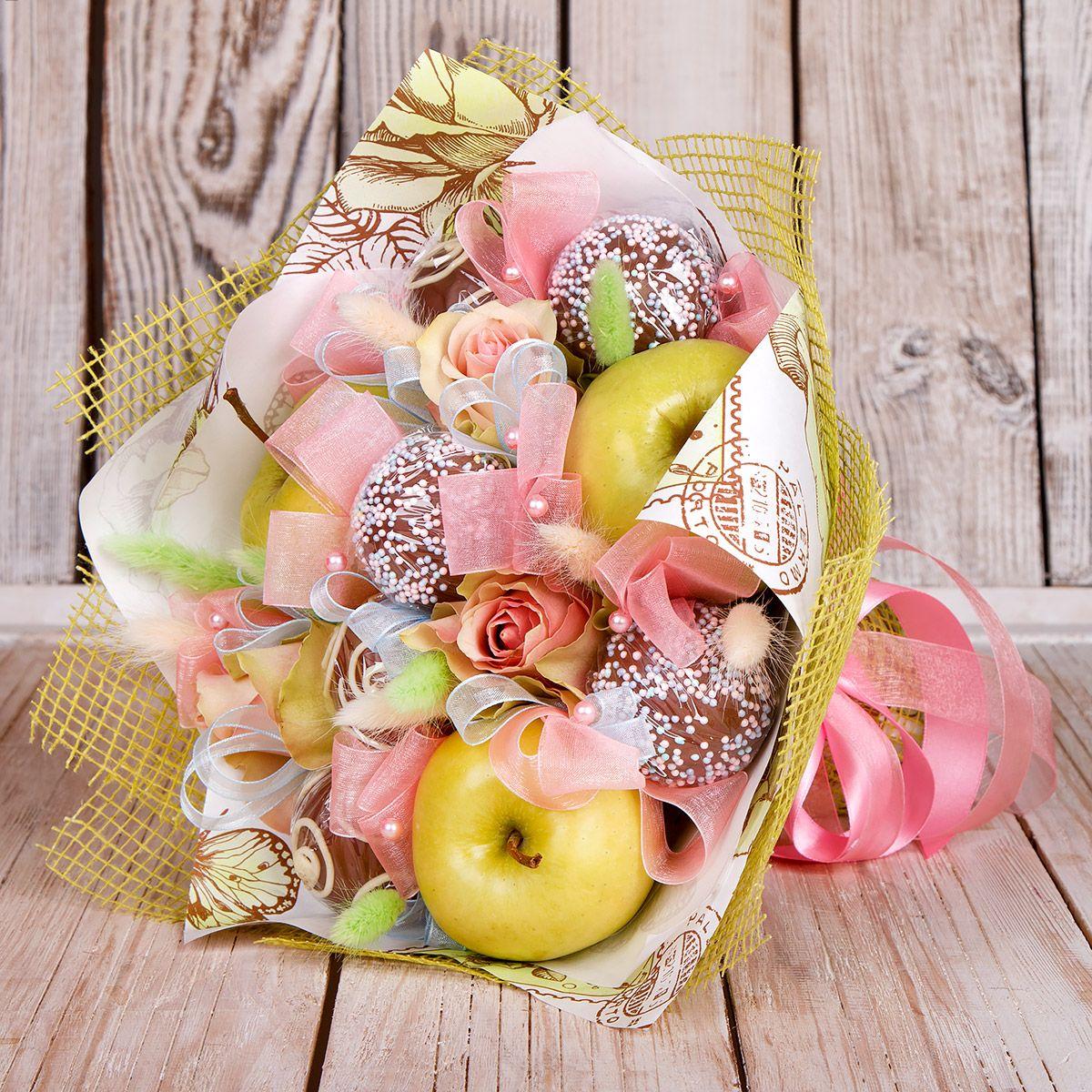 Троицей открытки, картинки букетов из фруктов и конфет