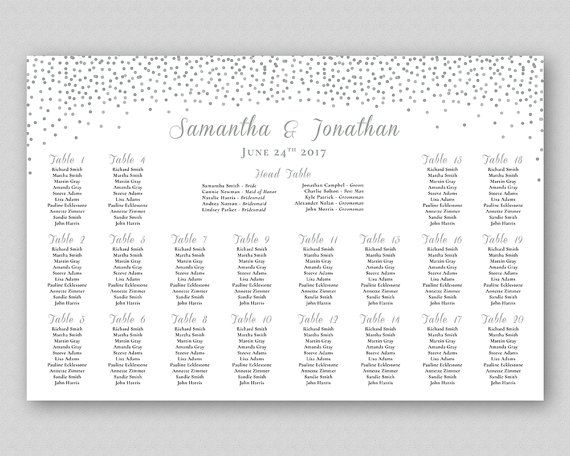 wedding seating chart printable