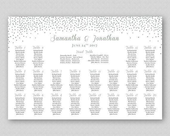 Wedding Table Plan, Table Seating Chart Sign Poster Board, Wedding - printable seating charts