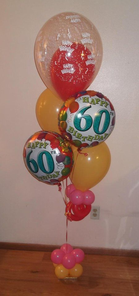 Same Day Delivery 60th Birthday Balloon Bouquet Dallas Tx By