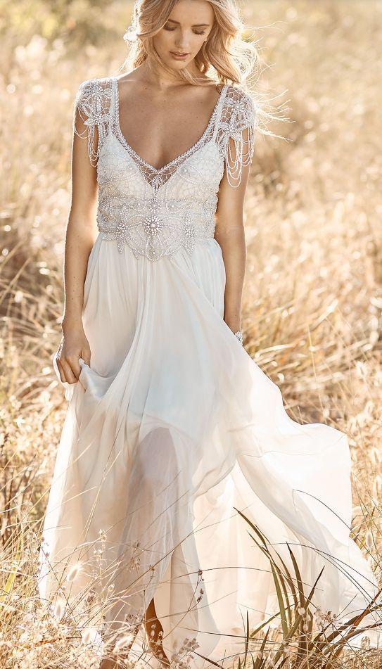 Empire Wedding Dress Anna Campbell