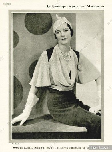 Mainbocher 1932 black and white dress, Photo Egidio Scaioni