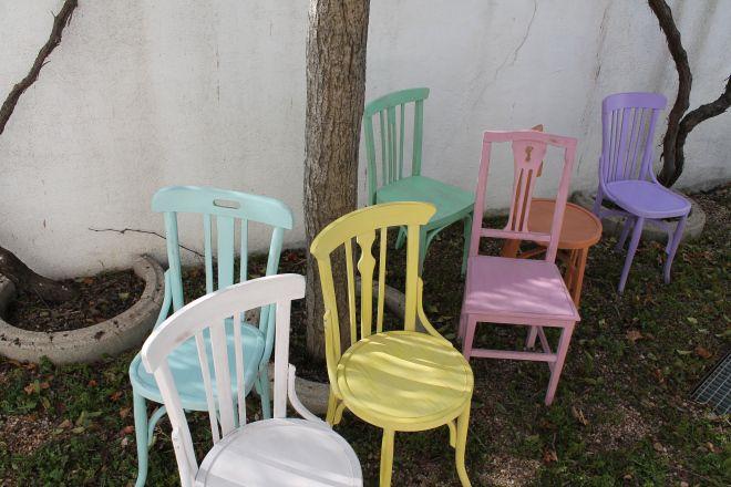 chalk paint silla madera