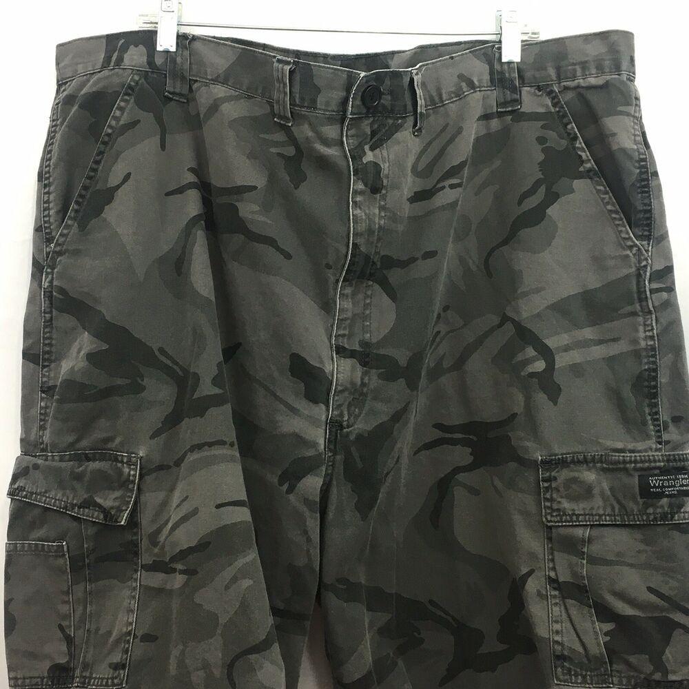 Wrangler Cargo Shorts Mens Size 48 Camo Camouflage Shorts Wrangler Cargo Cargo Shorts Camouflage Shorts Black And White Camo [ 1000 x 1000 Pixel ]