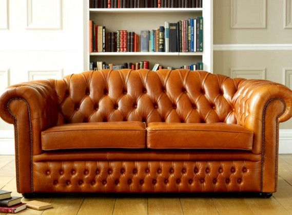 Oxley Classic Leather Chesterfield Sofa Bed | Living room ...
